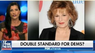 """Conservative commentator Dana Loesch is pictured next to """"The View"""" co-host Joy Behar."""