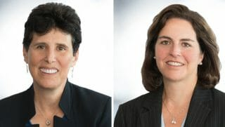 Debra Katz, left, and Lisa Banks are attorneys for Kavanaugh accuser Christine Ford.