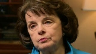 Sen. Dianne Feinstein in a 2017 interview with KQED-TV