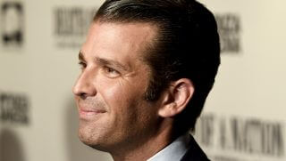 Donald Trump Jr. attends a movie premiere in Washington on Aug. 1.
