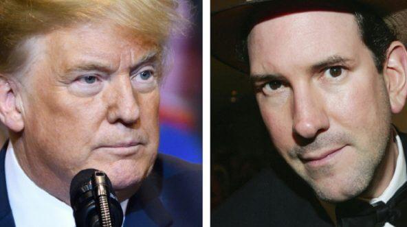 President Donald Trump, left, and Matt Drudge, right.