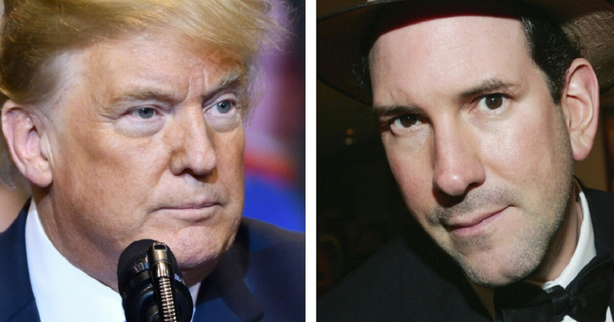 President Donald Trump, left, and Matt Drudge, right.