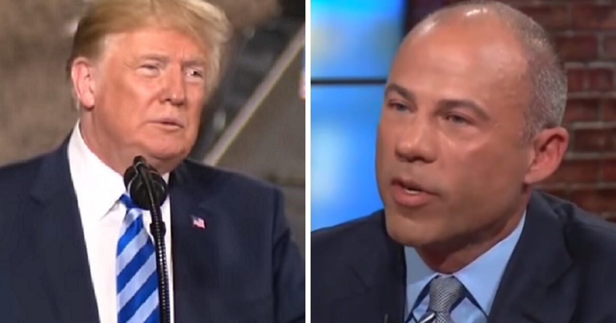 """President Donald Trump, left, called Michael Avenatti, right, a """"third rate lawyer"""" and a """"low life."""""""