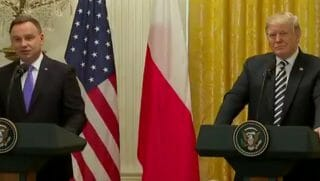 The Polish President and President Trump hold a media conference.