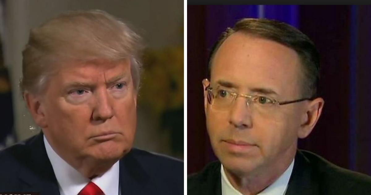 President Donald Trump and Deputy Attorney General Rod Rosenstein.