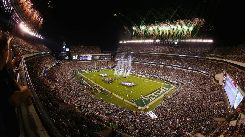 A general view prior to the game between the Atlanta Falcons and the Philadelphia Eagles at Lincoln Financial Field on Thursday night.