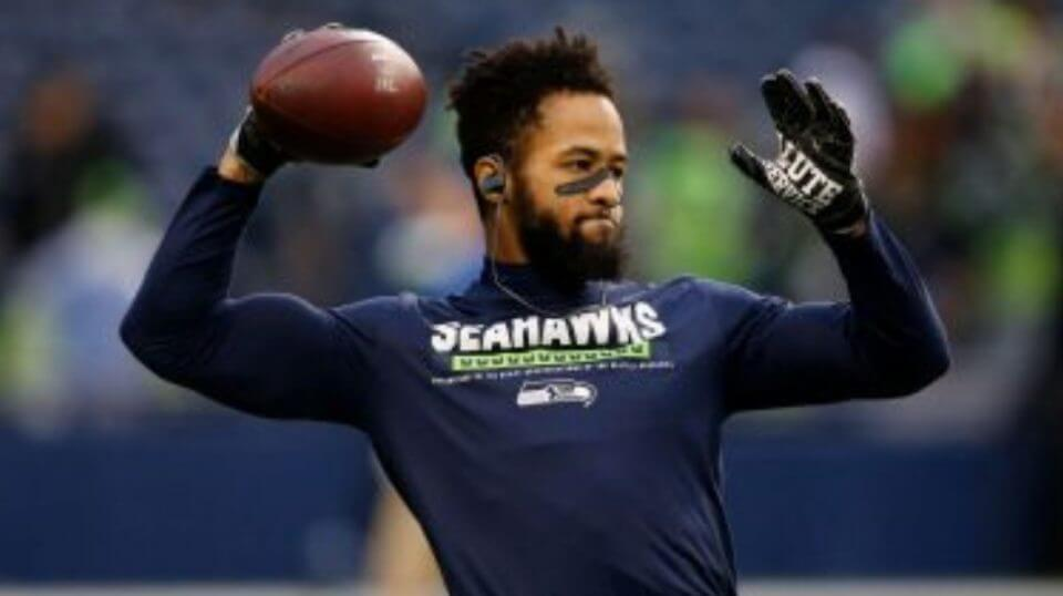 Seattle Seahawks' Earl Thomas warms up before a 2017 game against the Atlanta Falcons in Seattle.