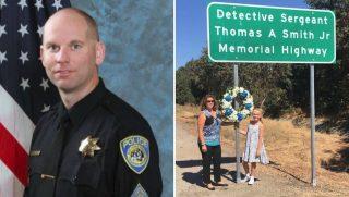 Exit Sign for Fallen Officer