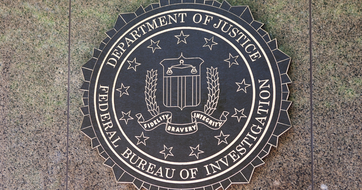 FBI seal outside the J. Edgar Hoover FBI Building in Washington D.C.
