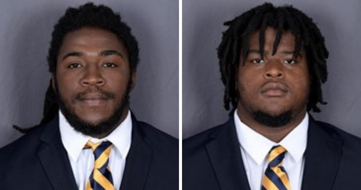 Anthony Jones, left, and Mershawn Miller, football players at Florida International University