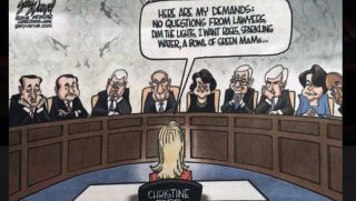 A political cartoon by artist Gary Varvel published by the Indianapolis Star was criticized for poking fun at sexual assault accuser Christine Ford.