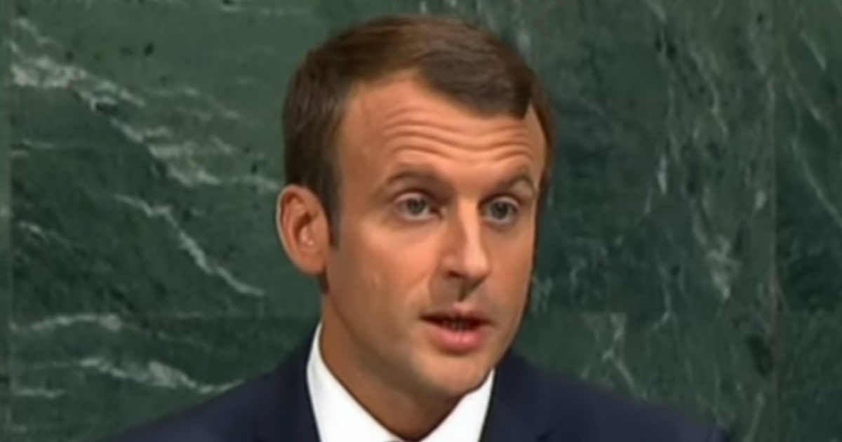 French President Emmanuel Macron during a 2017 speech to the United Nations.