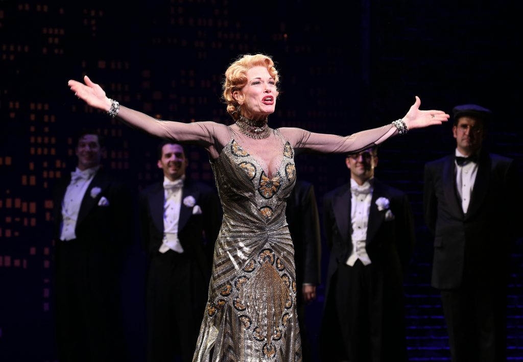 Marin Mazzie during the Broadway Opening Night Performance Curtain Call for ''Bullets Over Broadway'.""