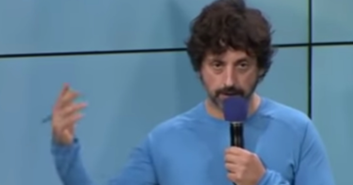 Google co-founder Sergey Brin speaks to employees the day after the 2016 presidential election in a leaked video published by Brietbart News.