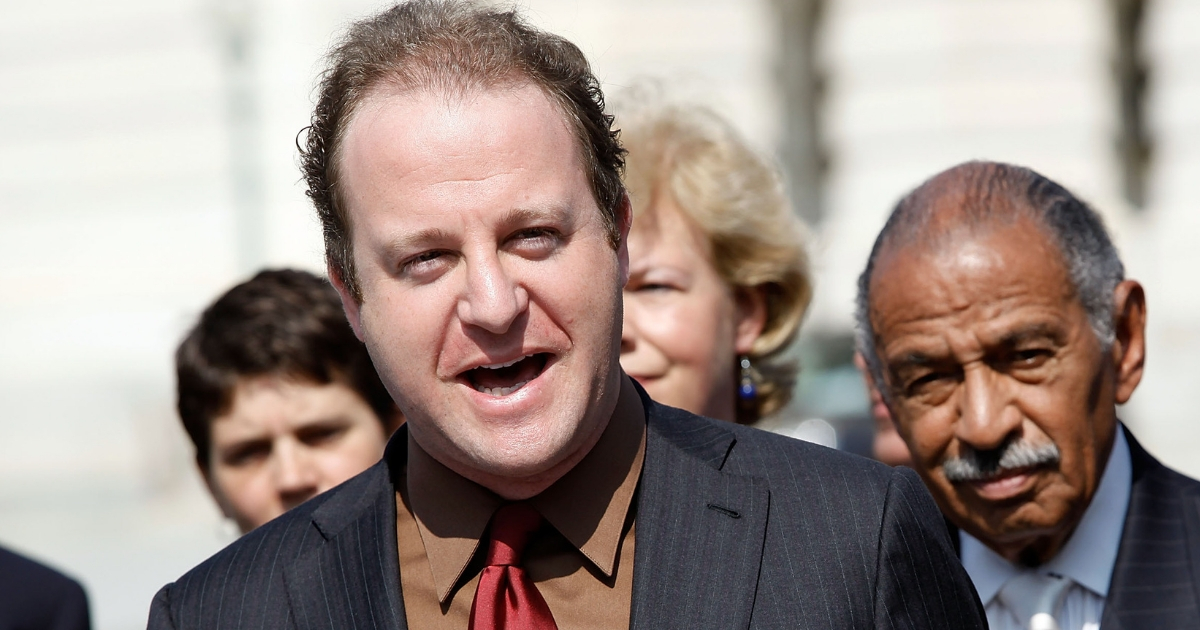 Rep. Jared Polis delivers remarks about legislation to repeal the Defense of Marriage Act on Sept. 15, 2009.
