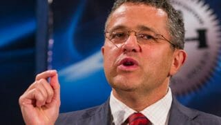 Jeffrey Toobin pictured speaking at a event in 2016.