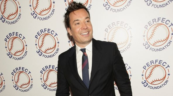 "Jimmy Fallon of ""The Tonight Show"" attends the Perfect Game 20th Anniversary Celebration at Sony Hall on May 17, 2018, in New York City."
