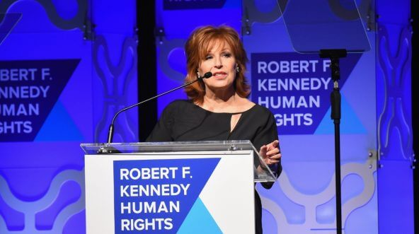 Joy Behar speaks onstage at the RFK Human Rights Ripple of Hope Awards.