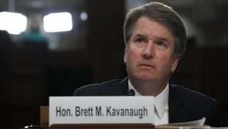 Supreme Court nominee Brett Kavanaugh testifies before the Senate Judiciary Committee on Sept. 6 in Washington.
