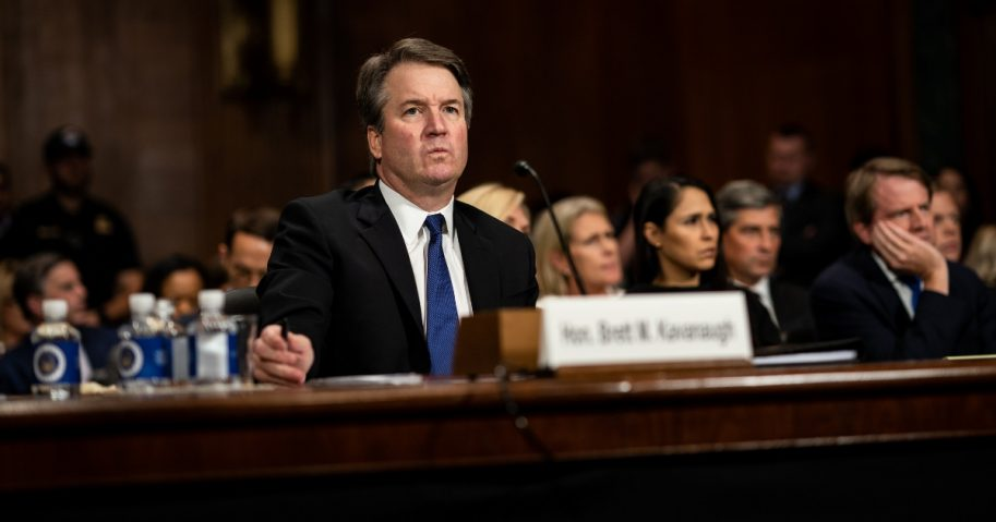 Judge Brett Kavanaugh testifies in front of the Senate Judiciary Committee regarding sexual assault allegations Thursday in Washington.