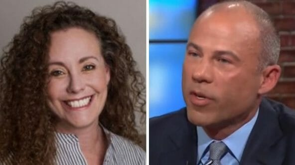 Julie Swetnick, left, and her attorney, Michael Avenatti.