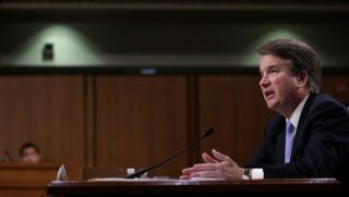 Supreme Court nominee Judge Brett Kavanaugh testifies before the Senate Judiciary Committee on Sept. 6, the third day of his confirmation hearings, in Washington.