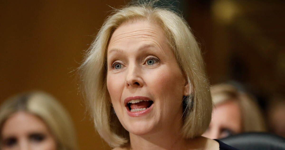 Sen. Kristen Gillibrand, D-New York, speaks during a Commerce Committee hearing July 11 on Capitol Hill in Washington.