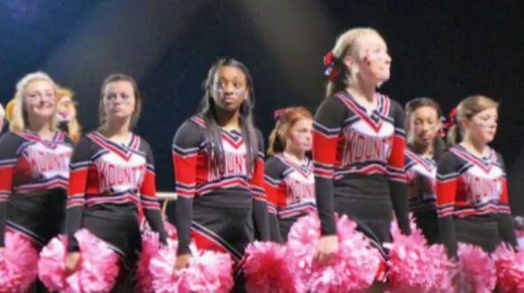 Kountze cheerleaders in Texas