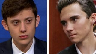 Kyle Kashuv, left, and David Hogg