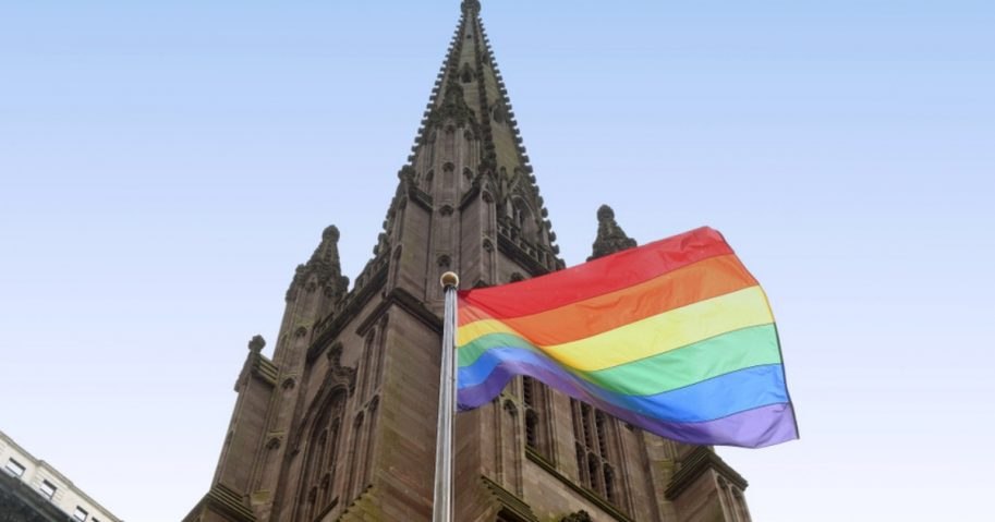 LGBT Flag and Church