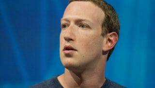Marck Zuckerberg from the neck up.