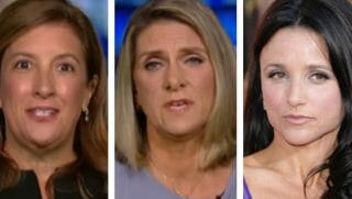 Former Brett Kavanaugh girlfriends Maura Fitzgerald, left, and Maura Kane, center, are sticking up for the Supreme Court nominee. Hollywood star Julia Louis Dreyfus, right, has weighed in on behalf of Kavanaugh's accuser.