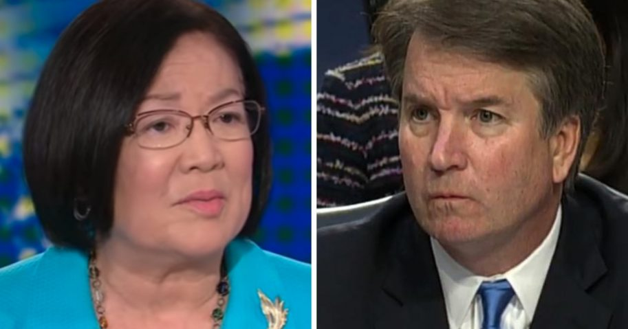Images of Hawaii Sen. Mazie Hirono, left, and Supreme Court Justice nominee Brett Kavanaugh, right.