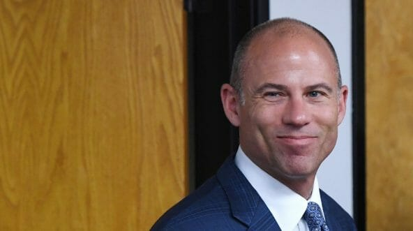Attorney Michael Avenatti arrives at a news conference with Battle Born Progress, a progressive communications organization, on Aug. 31, 2018, in Las Vegas, Nevada.