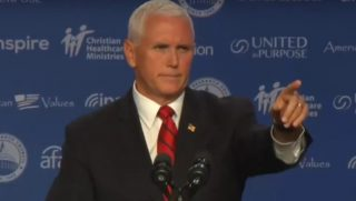 Vice President Mike Pence speaks at the Values Voter Summit in Washington.