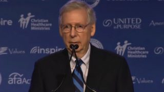Sen. Mitch McConnell speaking.