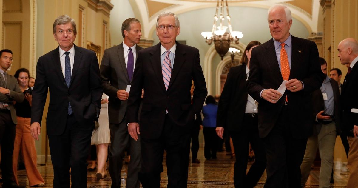 Mitch McConnell and senators