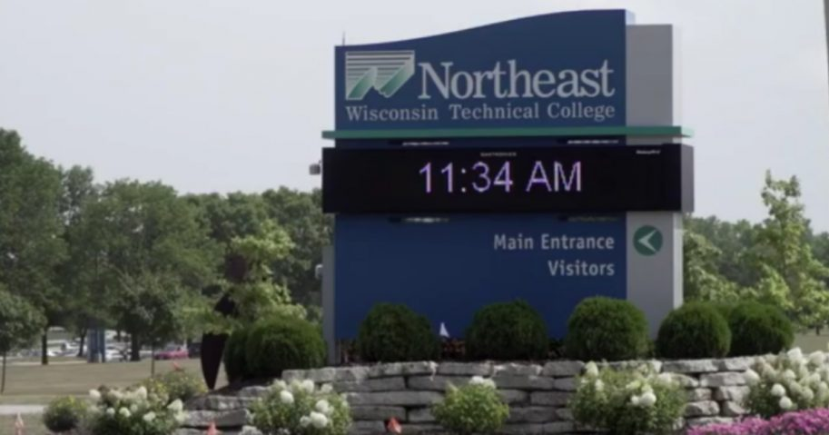 The entrance to Northeast Wisconsin Technical College campus in Green Bay.