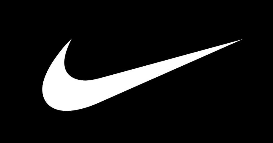 "The famous Nike ""swoosh"" logo."