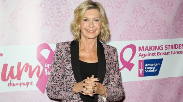 Entertainer Olivia Newton-John attends 'Turn Up the Pink' champagne brunch benefiting Making Strides Las Vegas to raise awareness and support for breast cancer research as part of the Hard Rock Cafe's Hard Rock Heals global charitable initiative at the Hard Rock Cafe Las Vegas Strip on Oct. 23, 2016, in Las Vegas, Nevada.