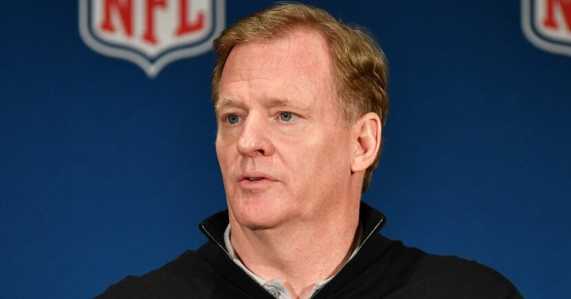 NFL Commissioner Roger Goodell answers questions at the NFL's annual meetings March 28 in Orlando, Florida.