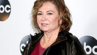Former ABC star Roseanne Barr is pictured on her way to a party in January.