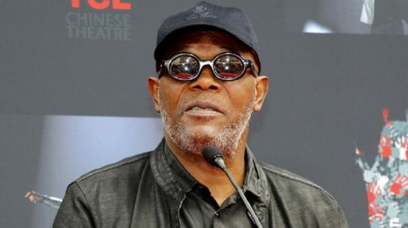 Actor Samuel L. Jackson makes an appearance in March at the TCL Chinese Theater in Hollywood.
