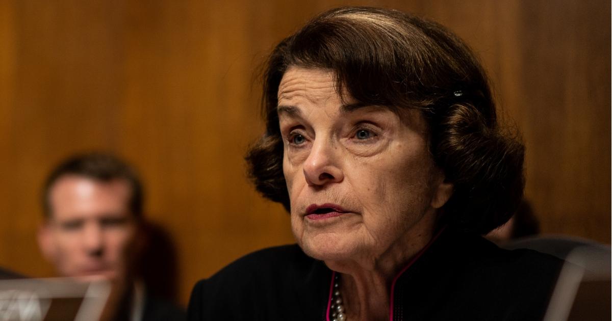 Sen. Dianne Feinstein speaks Thursday during a hearing on the sexual assault allegations against Supreme Court nominee Brett Kavanaugh.