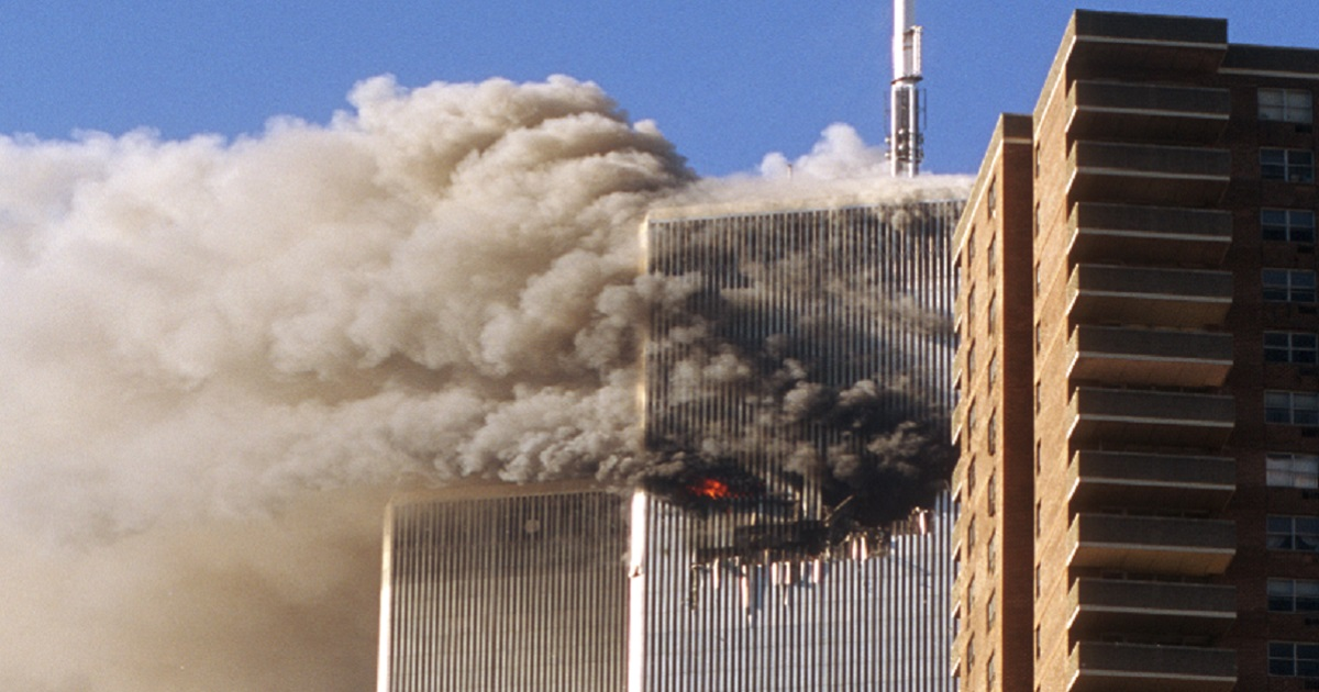 Smoke billows from the World Trade Center during the attack of 9/11.