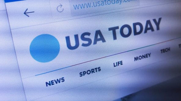 Screen shot of USA Today website.