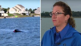 Woman Saves Man in Sinking Car