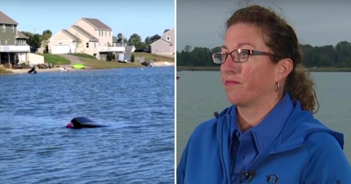 Woman Saves Man in Sinking Car