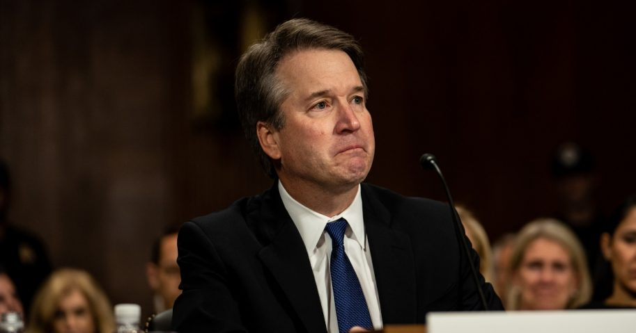 Brett Kavanaugh testifies in front of the Senate Judiciary committee.