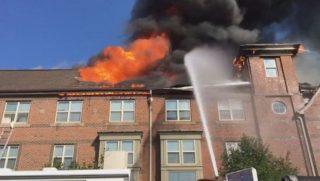 Capper Senior center fire